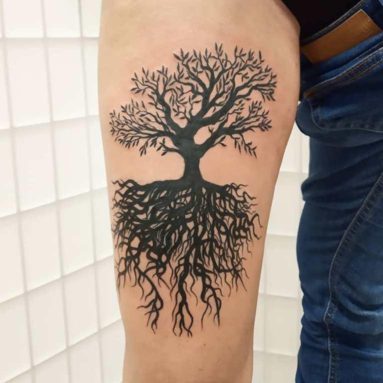 татуировки деревья