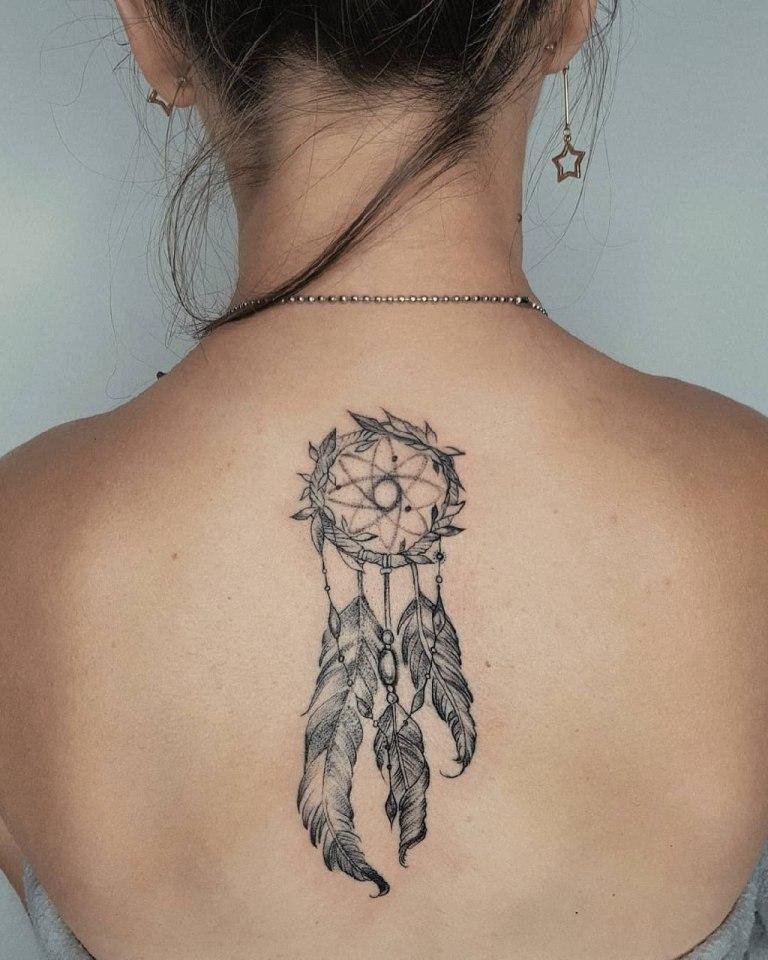 Татуировка ловец снов женская