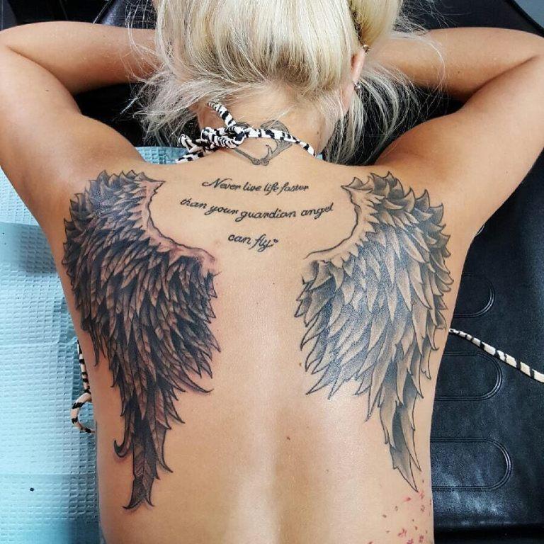 Тату крылья ангела на спине
