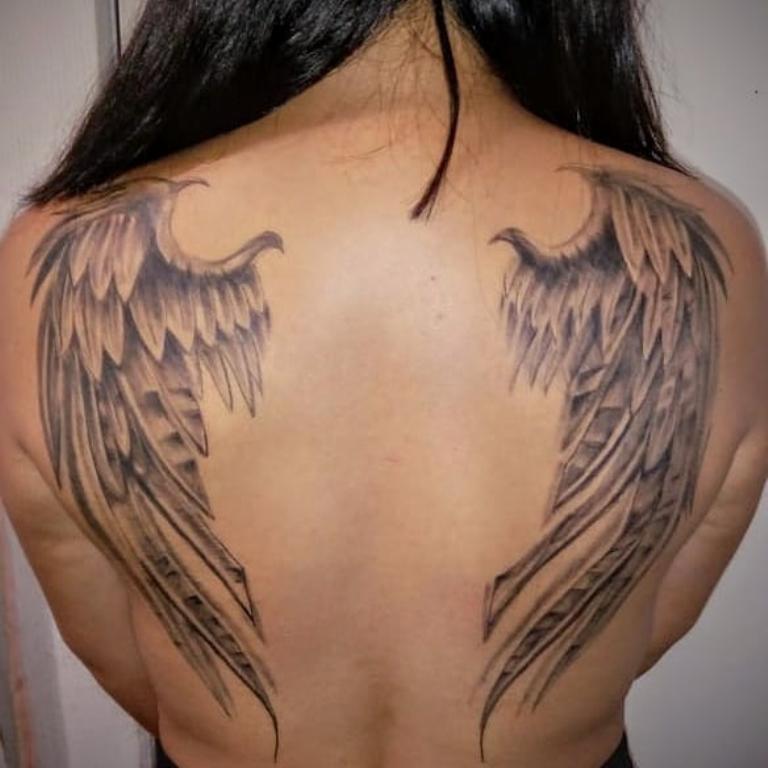 Фото тату крылья для пары все какие