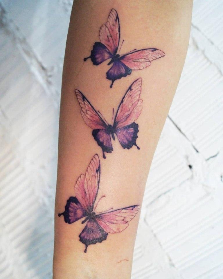 Татуировка крылья бабочки
