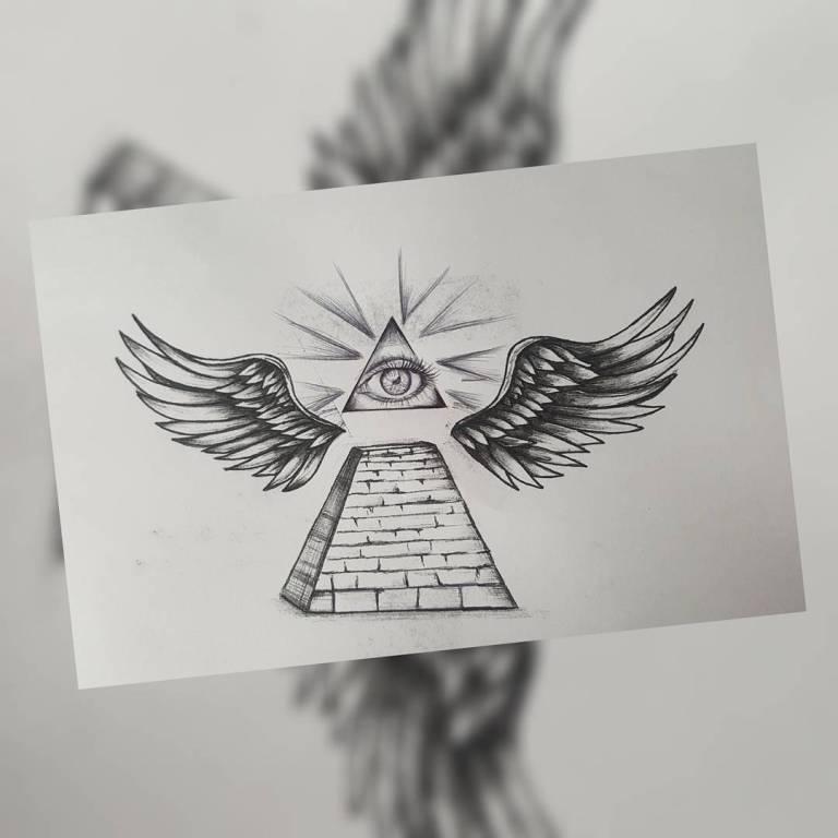 Эскиз всевидящее око