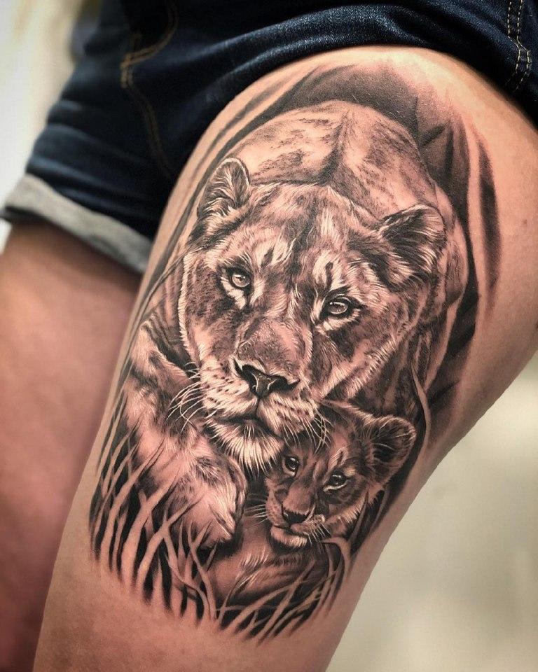 Тату львица