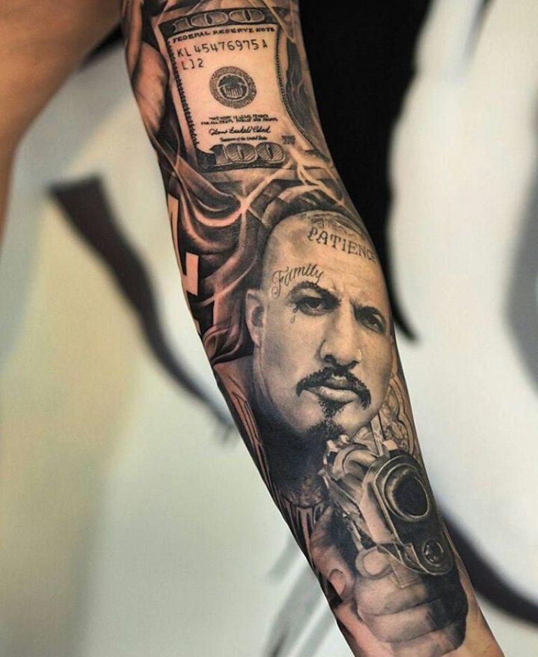 Татуировка чикано рукав