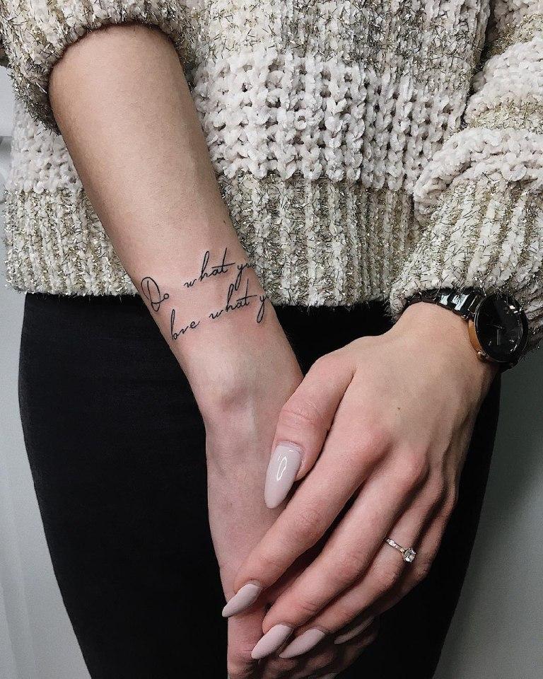 Татуировка надпись на английском