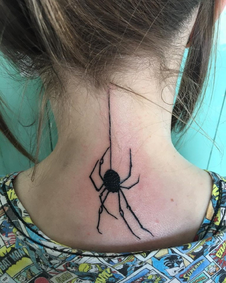 Тату паук черная вдова