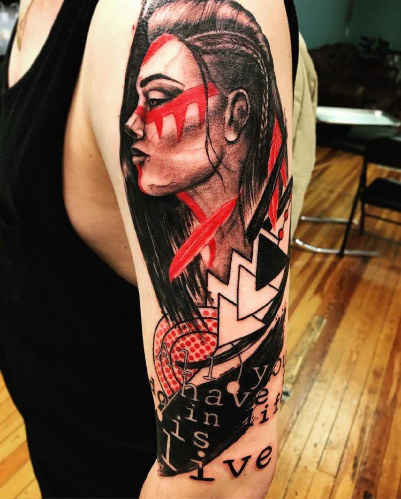 татуировки трэш полька