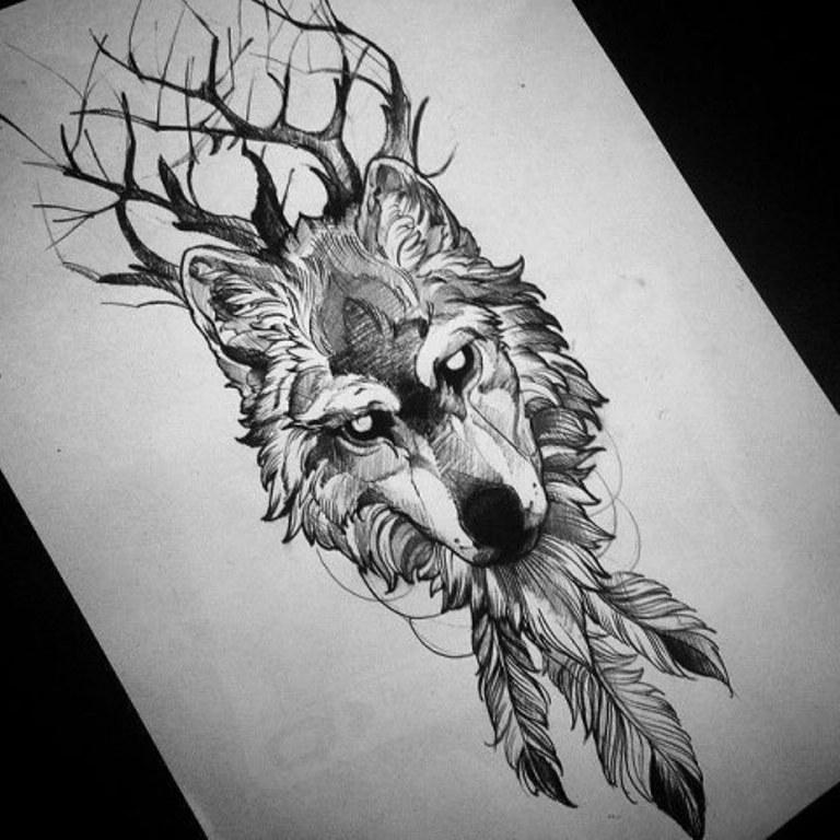 Волк с перьями