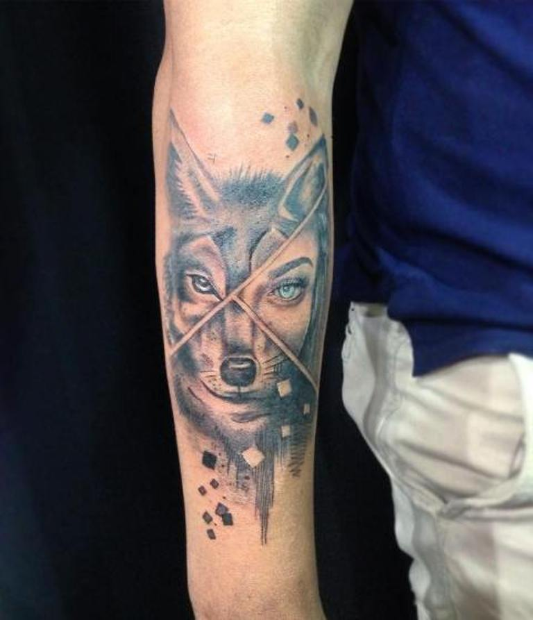 Волк из деталей