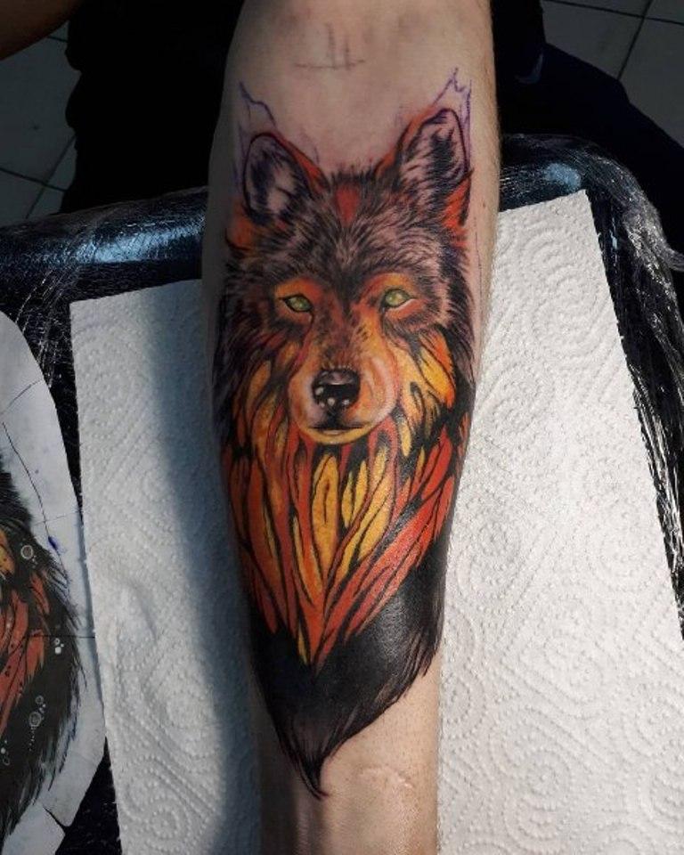 Волк в огне