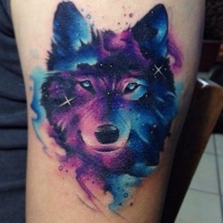 Цветной волк