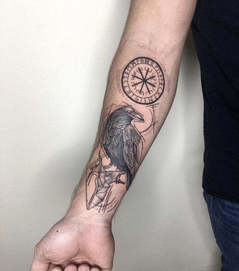 татуировка на предплечье мужская