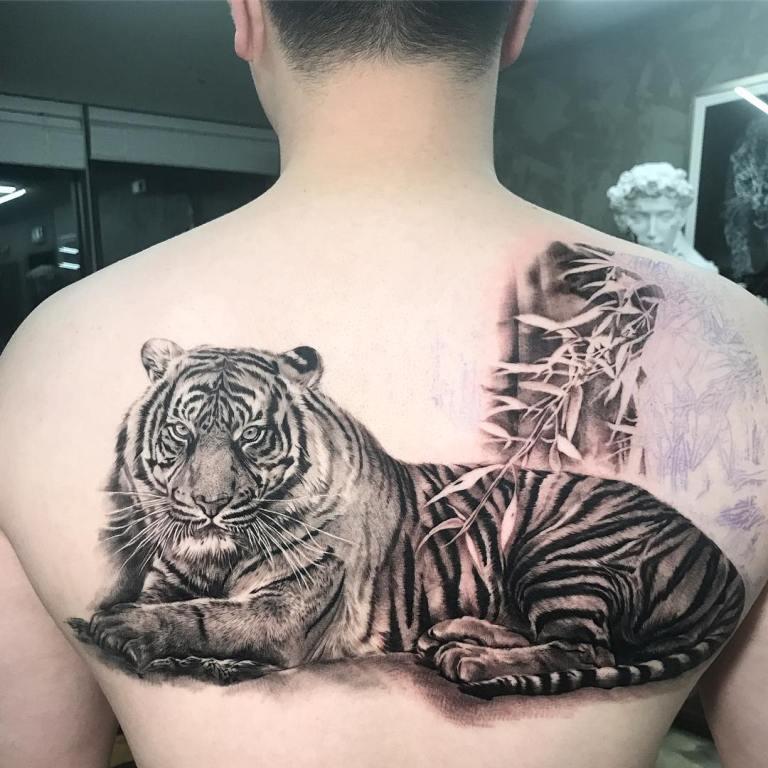 эскизы тату тигр