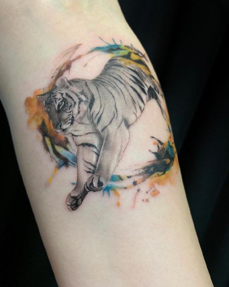 тигр татуировка