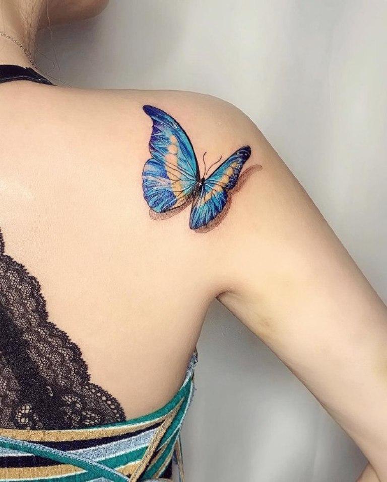 наколка бабочка значение