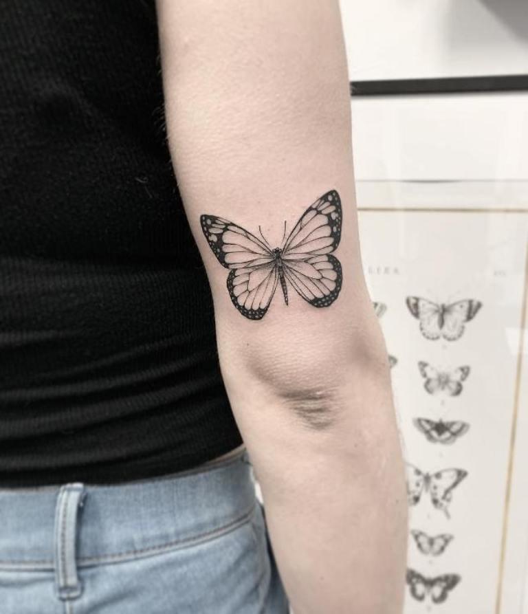 татуировки бабочек