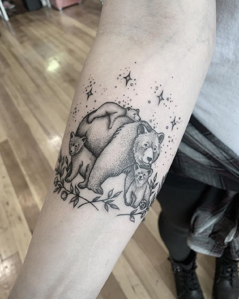 медведи тату