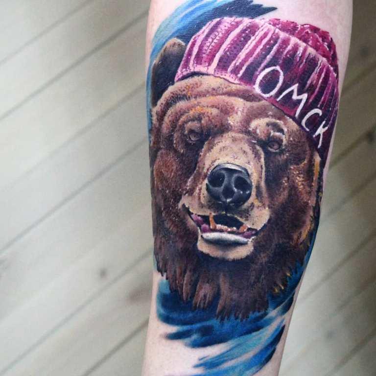 медведь морда