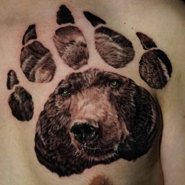 медвежья лапа тату