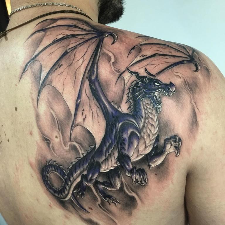 драконы тату