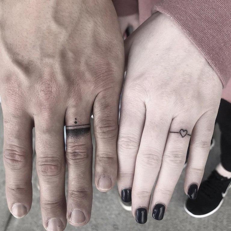 тату на пальце для мужчин