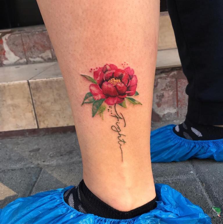 тату для девушек цветы