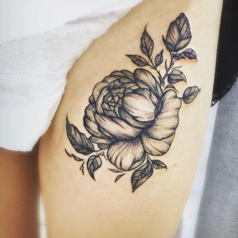 татуировки цветы