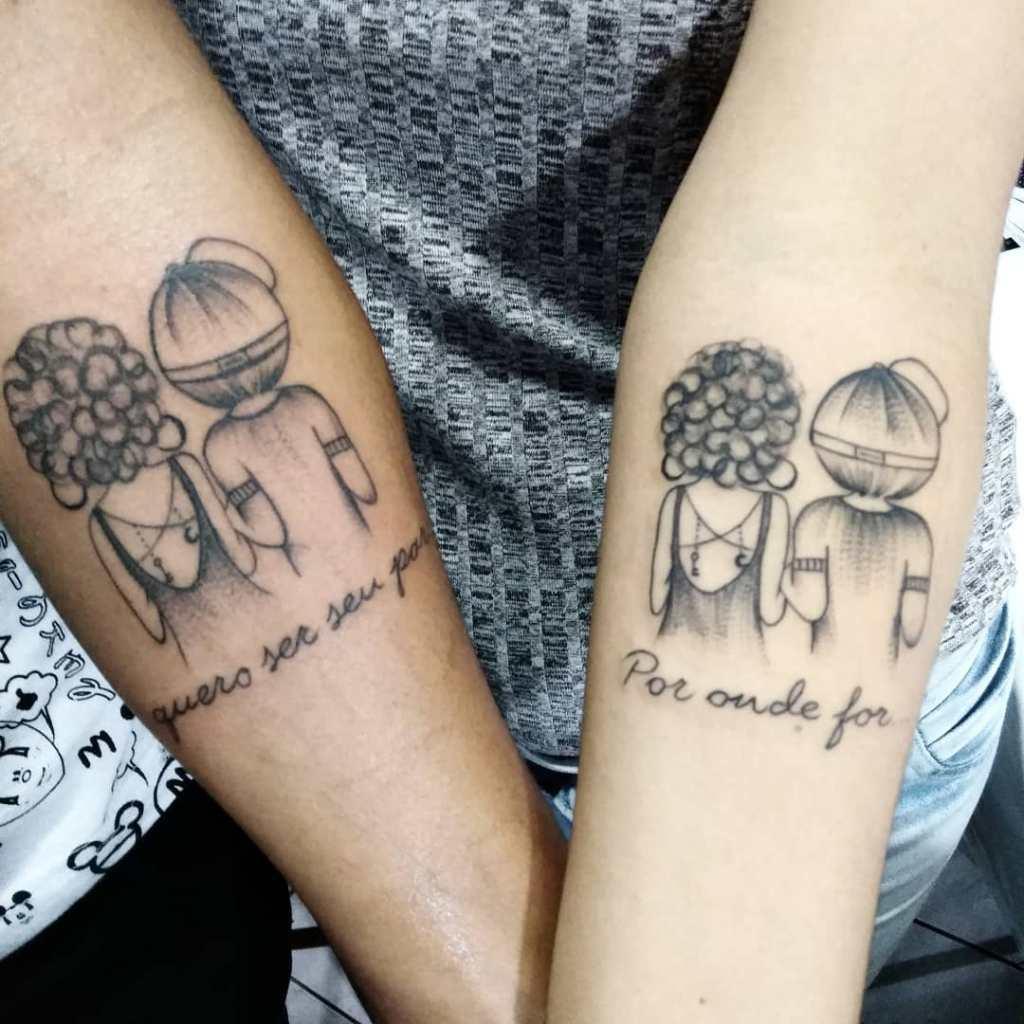 Di moda парные тату эскизы для влюбленных