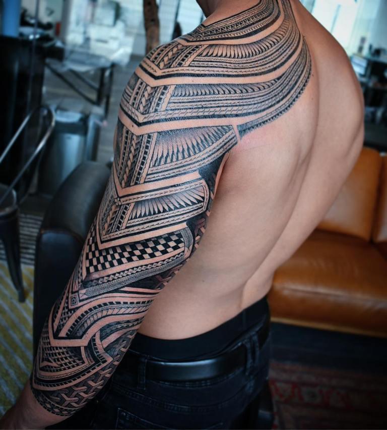 полинезия рукав