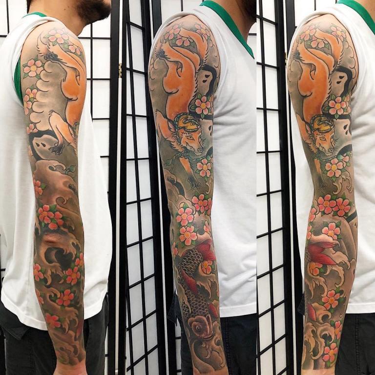 татуировки рукава мужские эскизы