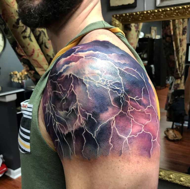 татуировка на плечо мужская