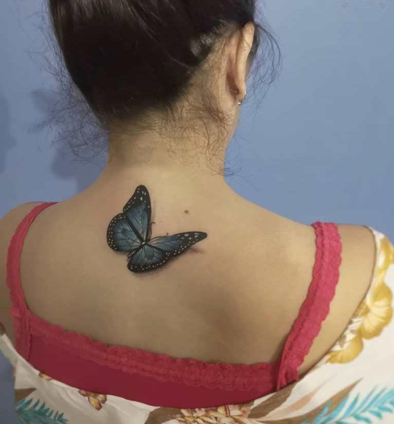 татуировки на спине женские