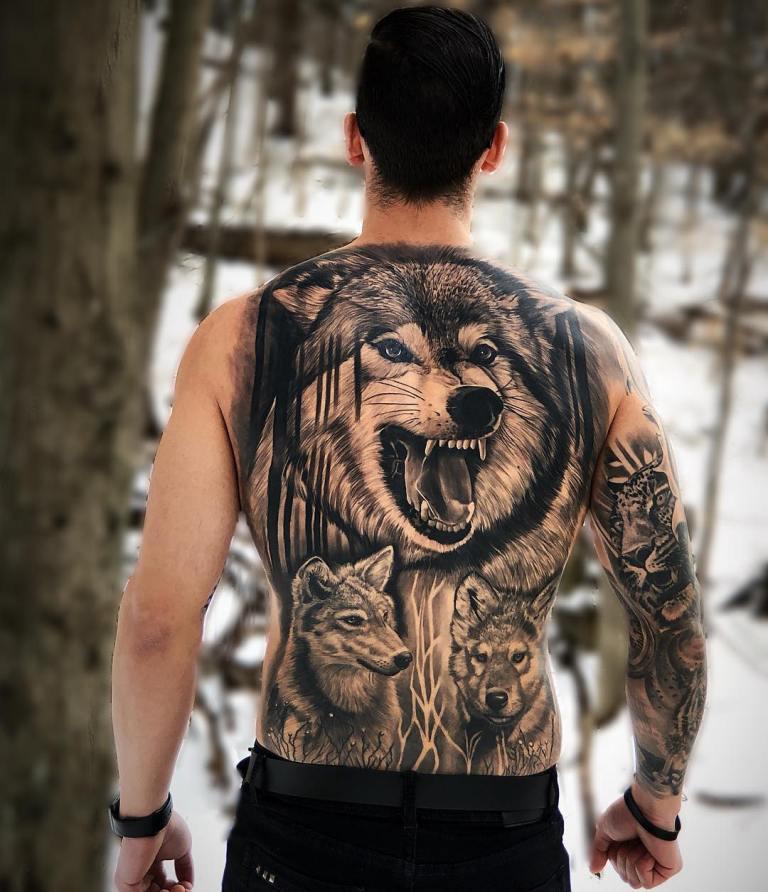 татуировки на спину мужские