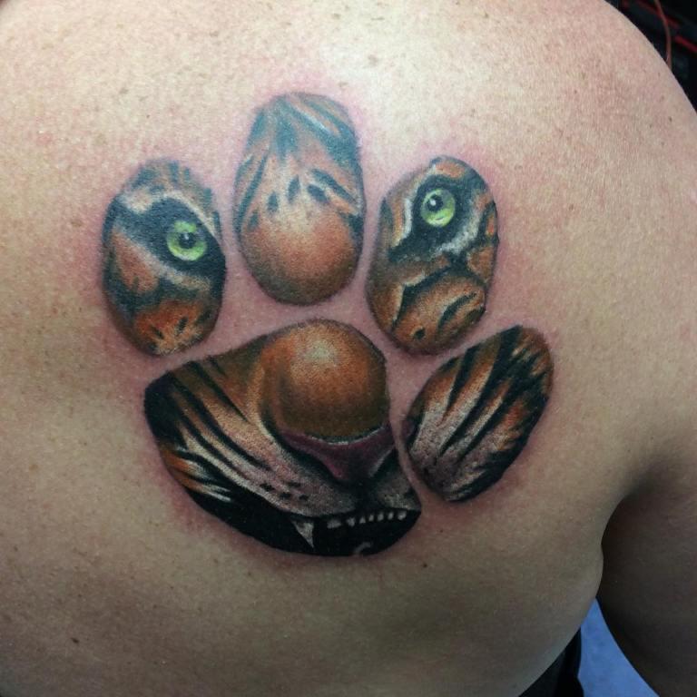 тигр тату эскиз