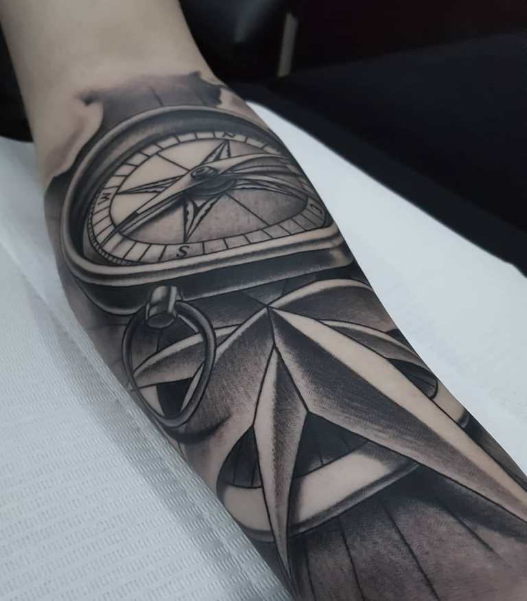 татуировка компас значение