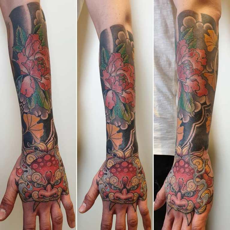 татуировки на кисть мужские