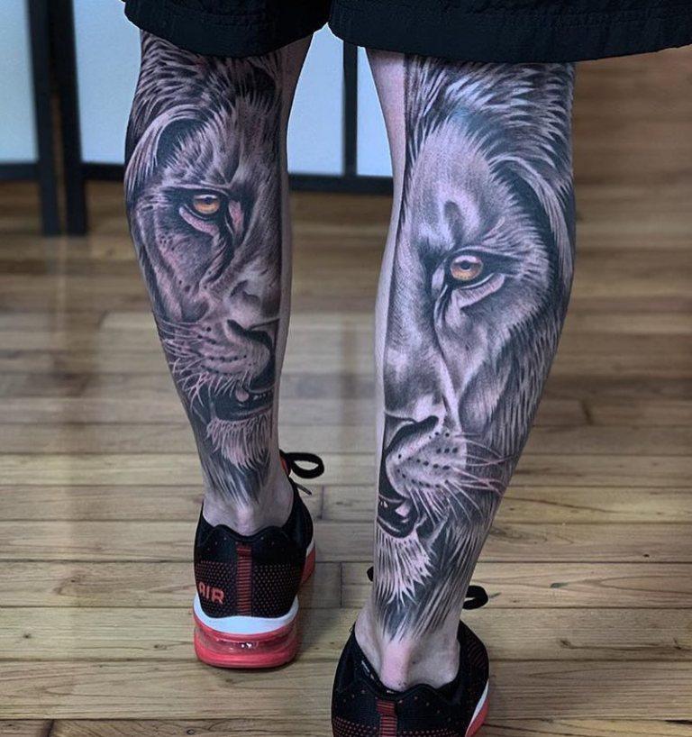 Картинки мужские тату на ноге