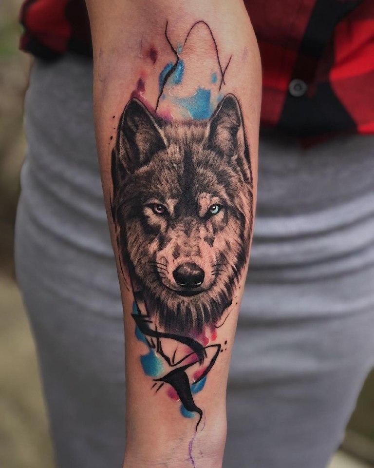 татуировки акварель эскизы