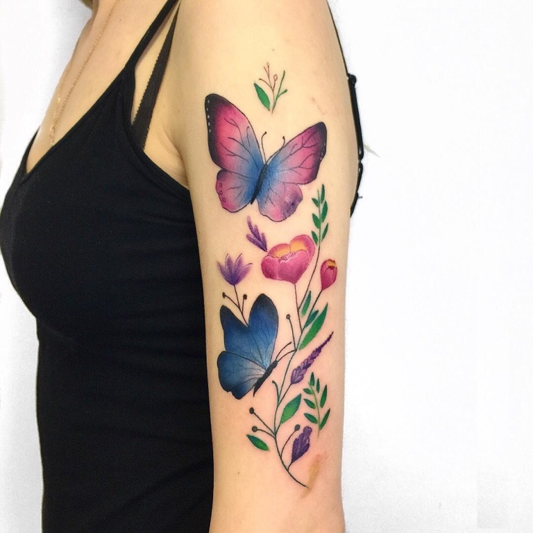 акварельные татуировки эскизы
