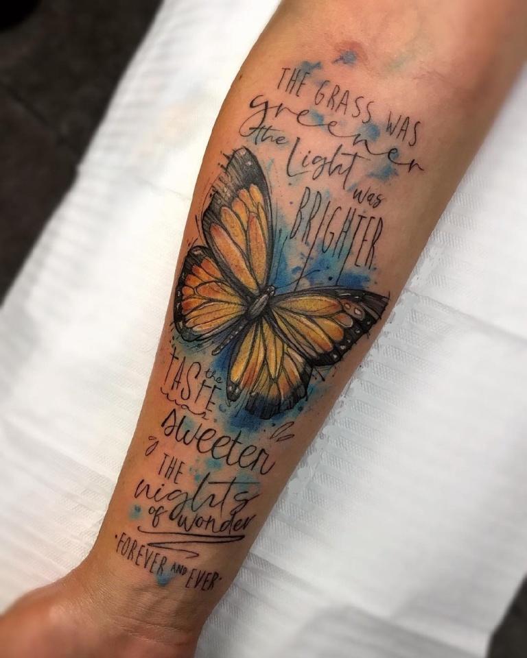 акварельные татуировки фото