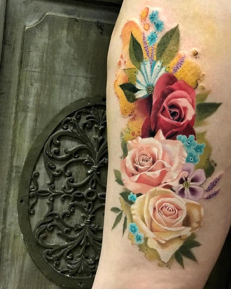 татуировки акварель