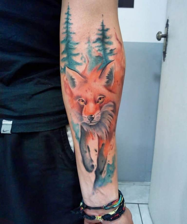 татуировки акварель фото
