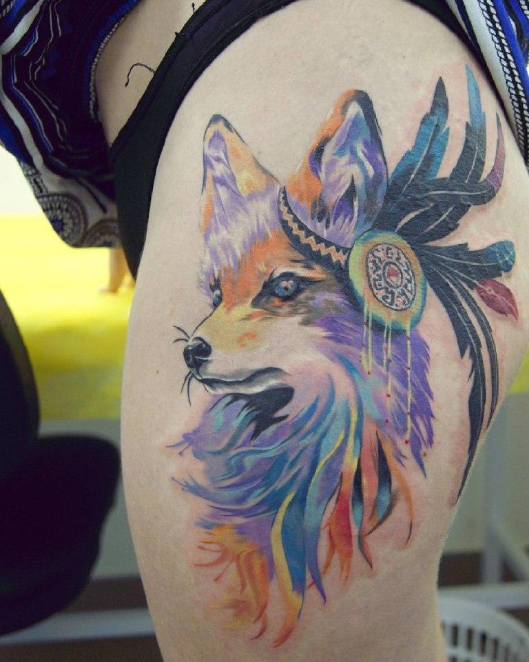 татуировки лисы