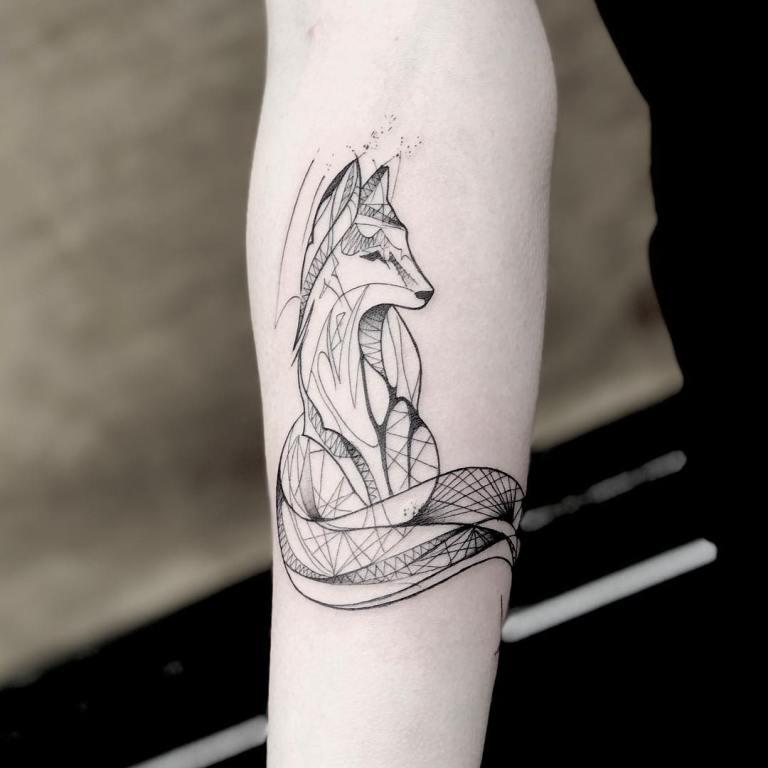 татуировки лиса