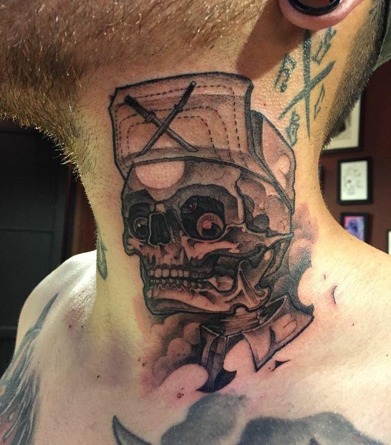 эскизы татуировок на шею
