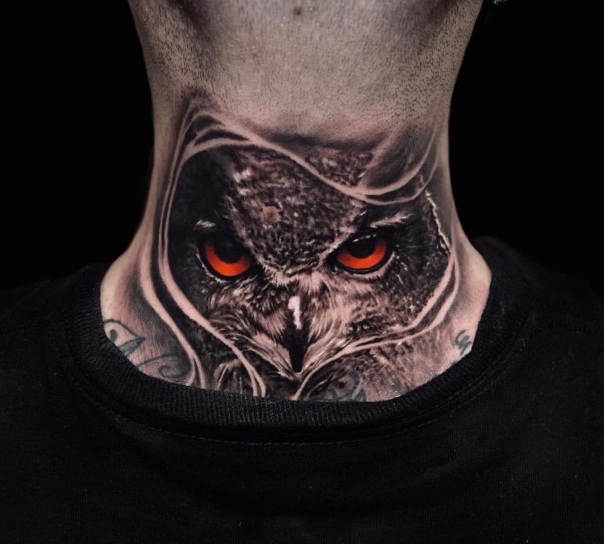 татуировки на шею мужские