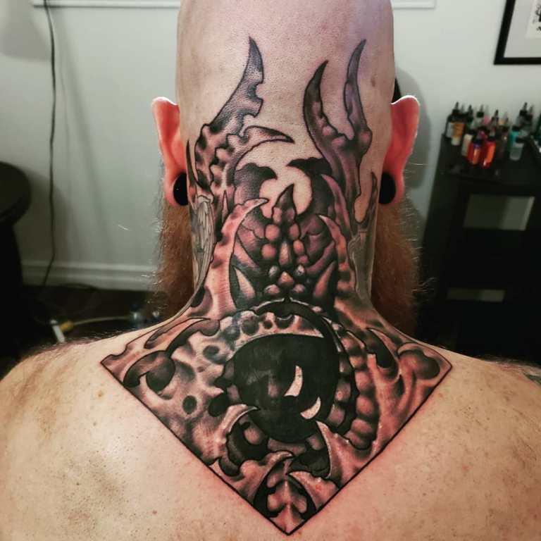 эскизы тату на шею