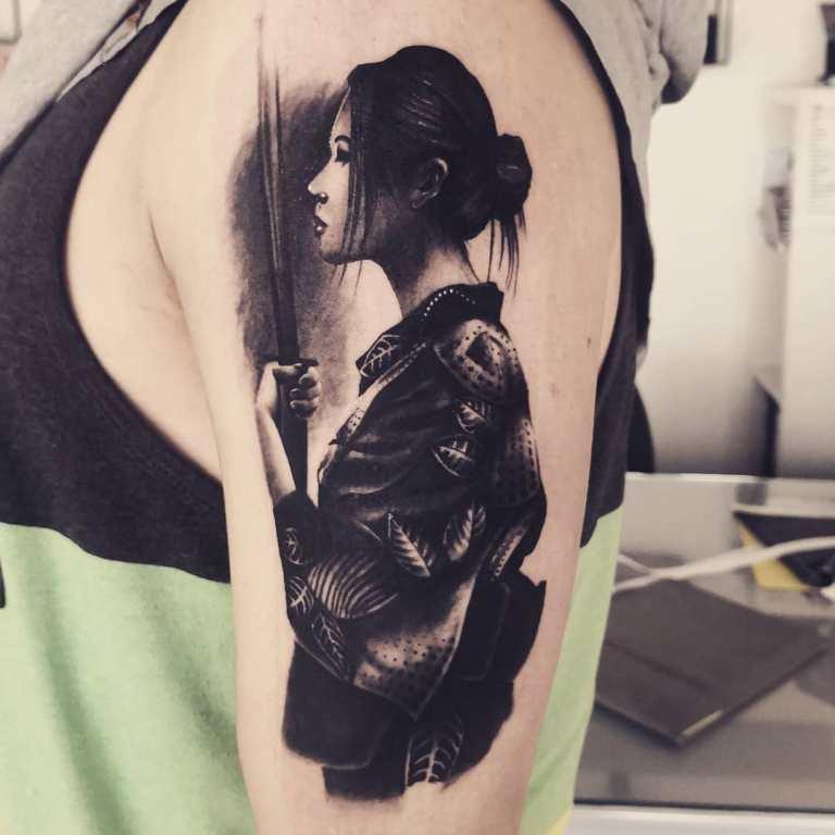 самурайские тату
