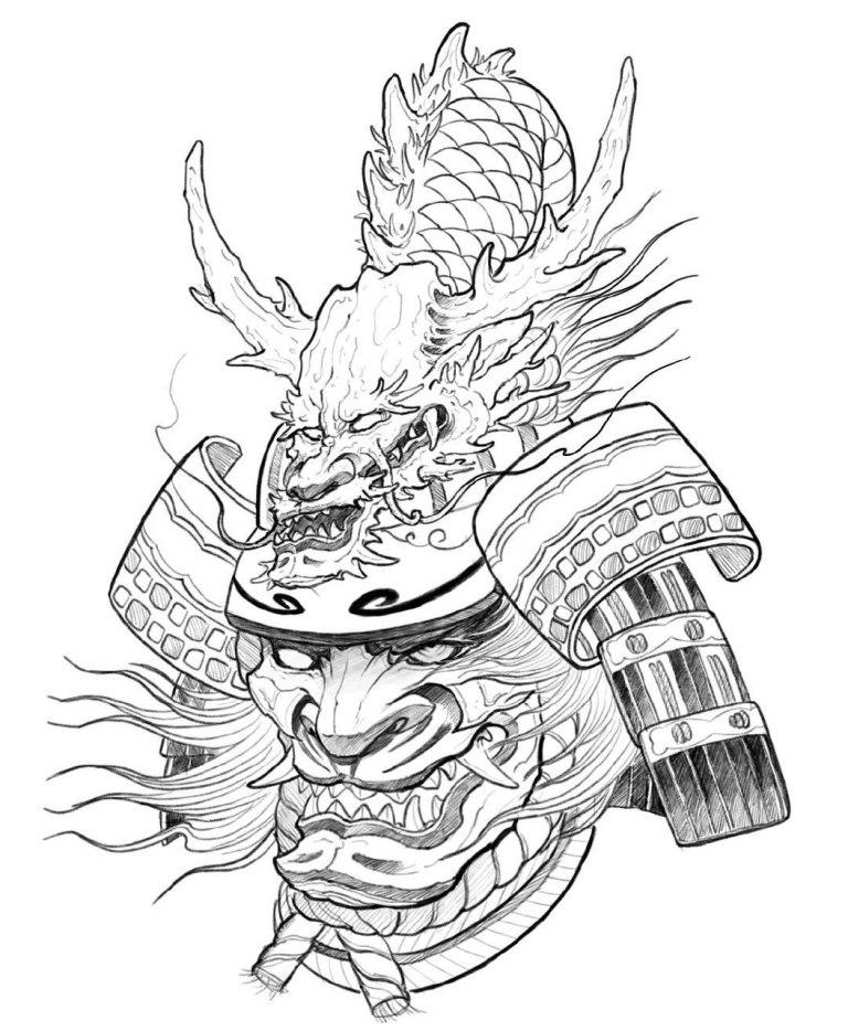 японские рисунки самураев