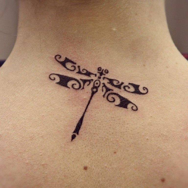татуировка стрекоза фото
